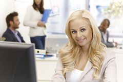 Portrait of young businesswoman smiling Royalty Free Stock Photo