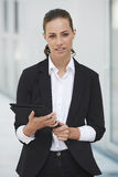 Portrait of young businesswoman smiling Royalty Free Stock Images