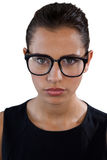 Portrait of young businesswoman wearing eyeglasses Stock Images