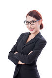 Portrait of young businesswoman wearing glasses Royalty Free Stock Photo