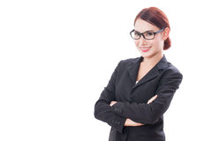 Portrait of young businesswoman wearing glasses Royalty Free Stock Photography