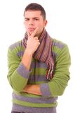 Portrait of young casual man Royalty Free Stock Image