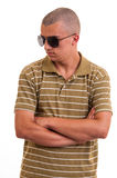 Portrait of young casual man looking away from the camera Royalty Free Stock Photos