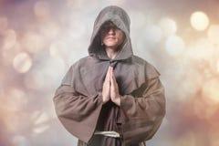 Portrait of Young catholic monk Stock Image