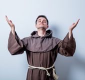 Portrait of Young catholic monk Royalty Free Stock Photography