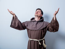 Portrait of Young catholic monk Royalty Free Stock Photos