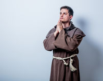 Portrait of Young catholic monk Stock Photo