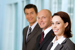 Portrait of young caucasian business people in office Royalty Free Stock Photography