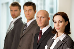 Portrait of young caucasian business people in office Royalty Free Stock Photo