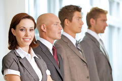 Portrait of young caucasian business people in office Royalty Free Stock Photos