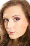 Portrait of a young Caucasian woman in makeup Royalty Free Stock Image