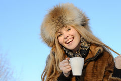 Portrait of young caucasian woman Stock Image