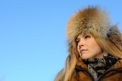 Portrait of young caucasian woman Stock Images