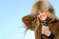 Portrait of young caucasian woman Royalty Free Stock Photography