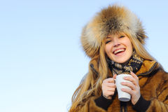Portrait of young caucasian woman Royalty Free Stock Images