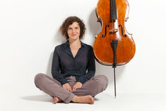 Portrait of young cellist Stock Photography