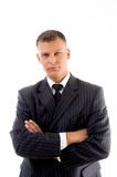Portrait of young ceo with crossed arms Royalty Free Stock Photo