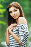 Portrait of young charming lady Stock Photos