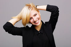 Portrait of a young cheerful woman Royalty Free Stock Images