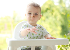 Portrait of a young child Stock Photo