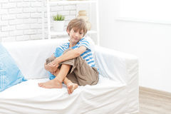 Portrait of young child boy at home Stock Photography