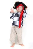 Portrait of young child dressed as pirate Stock Photography