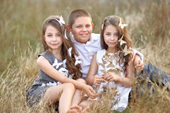 Portrait of young children Royalty Free Stock Image