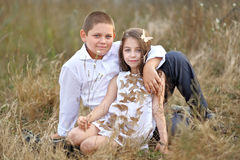 Portrait of young children Royalty Free Stock Images