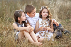 Portrait of young children Royalty Free Stock Photography