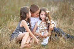 Portrait of young children Stock Images