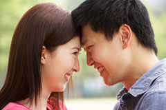 Portrait Of Young Chinese Couple Royalty Free Stock Photo