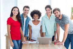 Portrait of young colleagues in office stock photo
