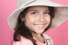 Portrait of a young columbian little girl Royalty Free Stock Photos