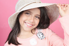 Portrait of a young columbian little girl Stock Photos