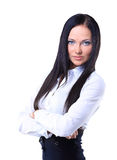 Portrait of a young confident business woman Stock Images