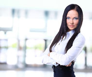 Portrait of a young confident business woman Royalty Free Stock Photography