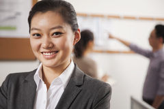 Portrait of young confident businesswoman in the office Stock Images