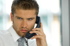 Portrait of young confident caucasian businessman Stock Images