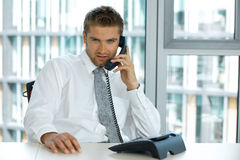 portrait of young confident caucasian businessman Royalty Free Stock Images