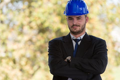 Portrait Of Young Construction Manager With Arms Crossed Royalty Free Stock Photo