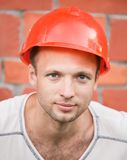 Portrait of young construction worker Stock Image