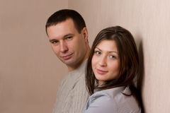 Portrait of young couple. Stock Images