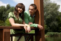 Portrait of young couple Stock Image