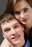 Portrait of a young couple Stock Images