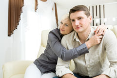Portrait of a young couple Stock Photos