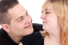 Portrait of a young couple Royalty Free Stock Photo