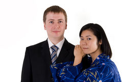 Portrait of young couple Royalty Free Stock Images