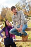 Portrait of a young couple in the countryside Stock Photography