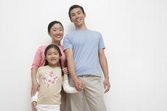 Portrait Of Young Couple With Daughter Stock Images