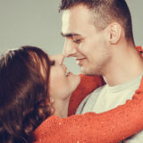 Portrait of young couple face to face Royalty Free Stock Image